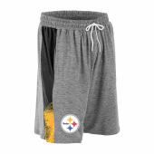 Pittsburgh Steelers Gray Space Dye BlackGold Static Short