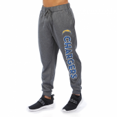Los Angeles Chargers Gray With Zebra Wordmark Poly Fleece Jogger