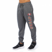 San Francisco 49ers Gray With Zebra Wordmark Poly Fleece Jogger