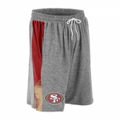 San Francisco 49ers Gray Space Dye RedBronze Static Short