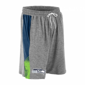 Seattle Seahawks Gray Space Dye NavyNeon Green Static Short