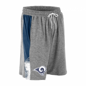 Los Angeles Rams Gray Space Dye NavyWhite Static Short