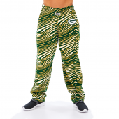 Green Bay Packers GreenGold Zebra Pant Left Hip Logo