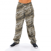 New Orleans Saints BlackBurn Gold Zebra Pant Left Hip Logo