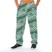 New York Jets GreenWhite Zebra Pant Left Hip Logo
