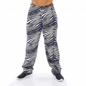 Navy BlueMetallic Gold Zebra Pant