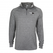 Mens New England Patriots Gray Space Dye Quarter Zip Pullover