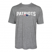 Mens New England Patriots Large GraphicLogo Gray Space Dye Tshirt