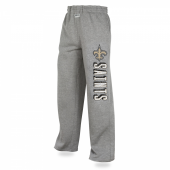 Mens New Orleans Saints Heather Gray Sweatpants