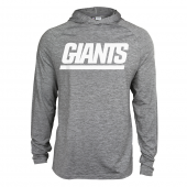 Mens New York Giants Gray Space Dye Light Weight Hoodie