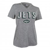 Womens New York Jets Gray Space Dye Tshirt