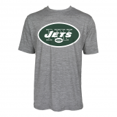 Mens New York Jets Large GraphicLogo Gray Space Dye Tshirt