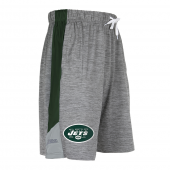 New York Jets Gray Space Dye Short With Stripe