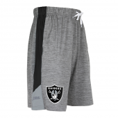 Oakland Raiders Gray Short With Stripe