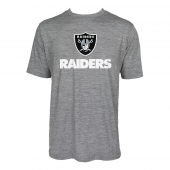 Mens Oakland Raiders Large GraphicLogo Gray Space Dye Tshirt