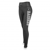 Womens Oakland Raiders Faux Mesh Print Legging