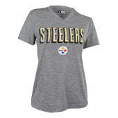 Womens Pittsburgh Steelers Gray Space Dye Tshirt