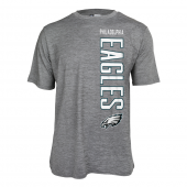Mens Philadelphia Eagles Vertical Logo Gray Space Dye Tshirt