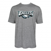 Mens Philadelphia Eagles Large GraphicLogo Gray Space Dye Tshirt