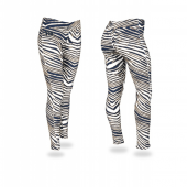 University of Pittsburgh NavyMetallic Gold Zebra Legging