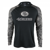 San Francisco 49ers Black Post Light Weight Hoodie