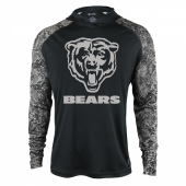 Chicago Bears Black Post Light Weight Hoodie