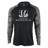 Cincinnati Bengals Black Post Light Weight Hoodie