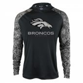 Denver Broncos Black Post Light Weight Hoodie