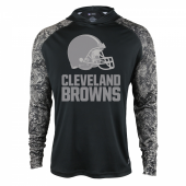 Cleveland Browns Black Post Light Weight Hoodie