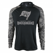 Tampa Bay Buccaneers Black Post Light Weight Hoodie