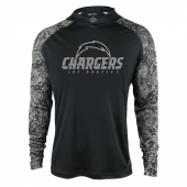 Los Angeles Chargers Black Post Light Weight Hoodie