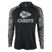 Kansas City Chiefs Black Post Light Weight Hoodie
