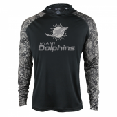 Miami Dolphins Black Post Light Weight Hoodie