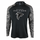 Atlanta Falcons Black Post Light Weight Hoodie