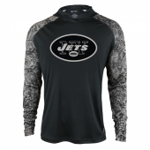 New York Jets Black Post Light Weight Hoodie