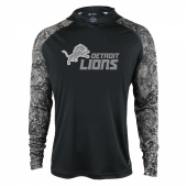 Detroit Lions Black Post Light Weight Hoodie