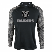 Oakland Raiders Black Post Light Weight Hoodie