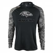 Baltimore Ravens Black Post Light Weight Hoodie