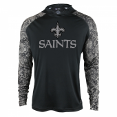 New Orleans Saints Black Post Light Weight Hoodie