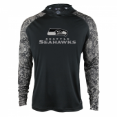 Seattle Seahawks Black Post Light Weight Hoodie
