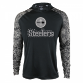 Pittsburgh Steelers Black Post Light Weight Hoodie