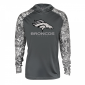 Denver Broncos Gray Post Light Weight Hoodie