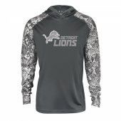 Detroit Lions Gray Post Light Weight Hoodie