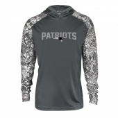 New England Patriots Gray Post Light Weight Hoodie