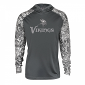 Minnesota Vikings Gray Post Light Weight Hoodie