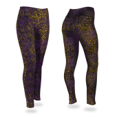 PurpleGoldBlack Post Pattern Leggings