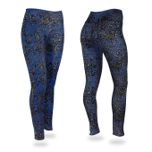 Royal BlueBlackGray Post Pattern Legging