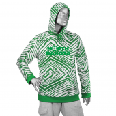 North Dakota Fighting Hawks Kelly GreenWhite Zebra Hoodies