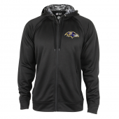 Baltimore Ravens Black Full Zip Hood With Digital Camo Hood Detail