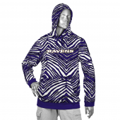 Baltimore Ravens BlackPurple Zebra Hoodies
